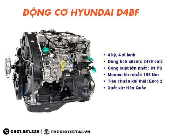 Xe ben Veam VB125 động cơ Hyundai D4BF