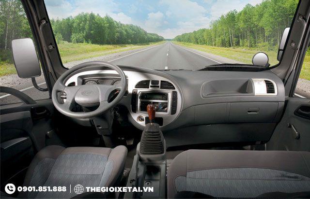 nội thất xe ben Veam VB350 3.5 tấn mặt trước cabin