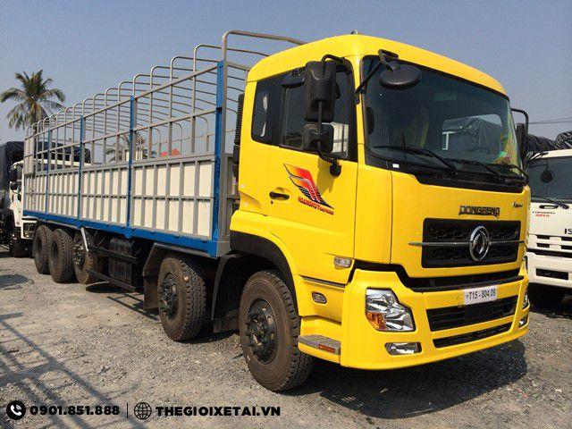 Xe tải Dongfeng Hoàng Huy 5 chân L315 21.45 tấn thùng mui bạt
