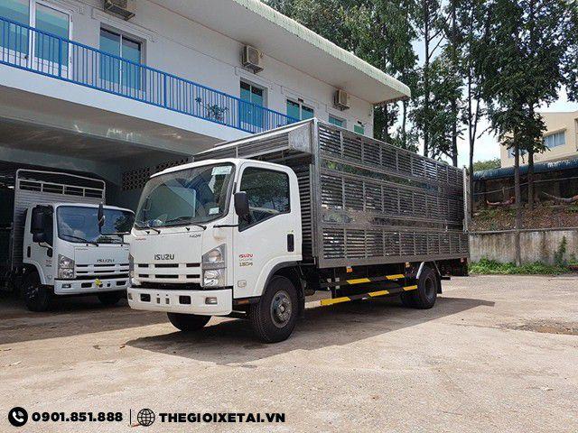Xe tải Isuzu 3.9 tấn thùng chở gia cầm dài 6.1m - NQR75M
